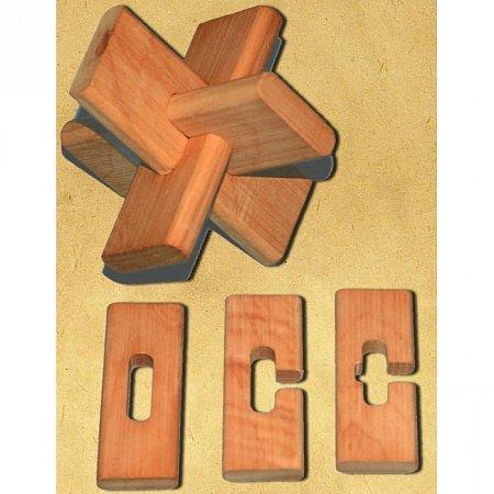 Деревянная головоломка Крест ОСС. Круть Верть