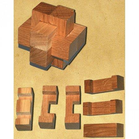 Деревянная головоломка Крест простой. Круть Верть