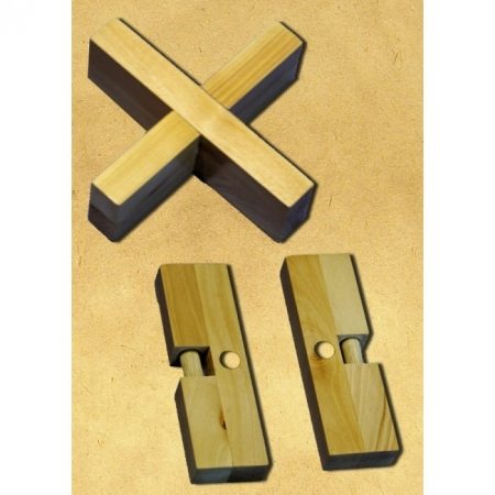 Деревянная головоломка Крест-вертушка. Круть Верть