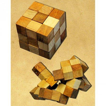 Деревянная головоломка Куб. Круть Верть