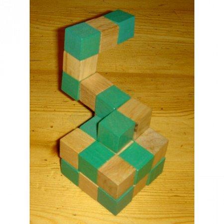 Деревянная головоломка Куб (45x45 зеленый). Круть Верть