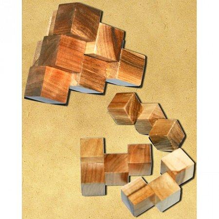 Деревянная головоломка Пирамида KMBS. Круть Верть