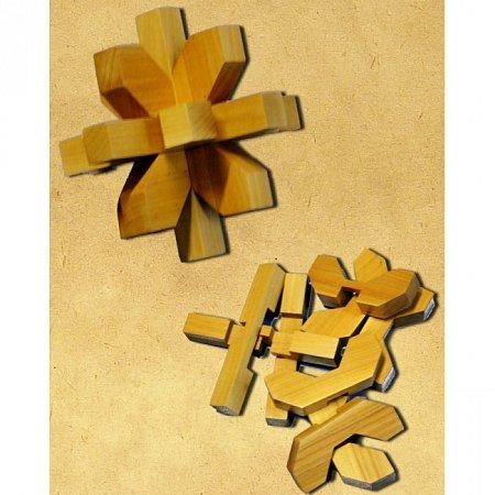 Деревянная головоломка Снежинка. Круть Верть