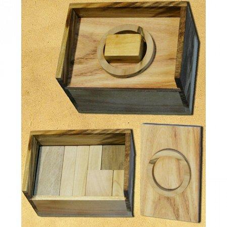 Деревянная головоломка Сундук. Круть Верть. 6018