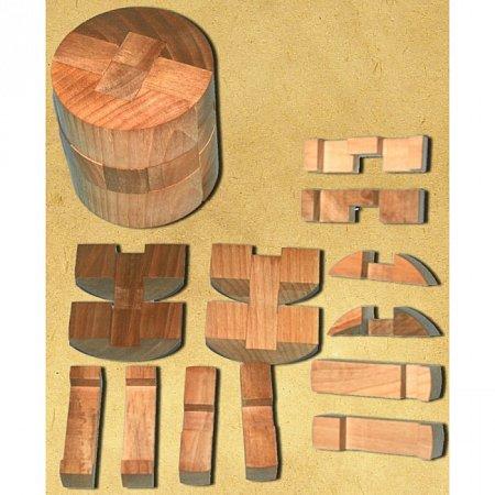 Деревянная головоломка Цилиндр. Круть Верть