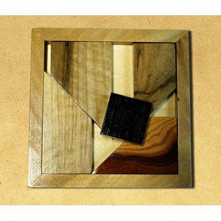Деревянная головоломка Черный квадрат (большой). Круть Верть