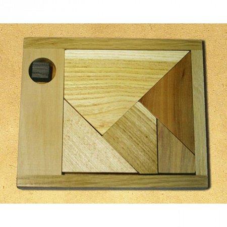 Деревянная головоломка Черный квадрат (малый). Круть Верть (6037)