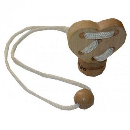 Веревочная головоломка Сердце на подставке. Круть Верть