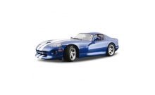 Авто-конструктор DODGE VIPER GTS COUPE (1996) (синий, 1:18)