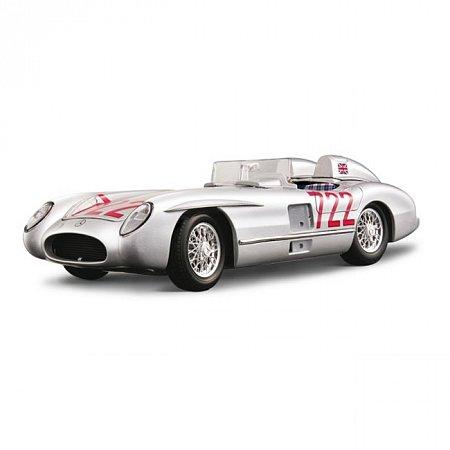 Авто-конструктор MERCEDES-BENZ 300 SRL M.M. (1955) (серебристый, 1:18)