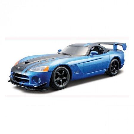 Авто-конструктор DODGE VIPER SRT10 ACR (2008) (голубой металлик, 1:24)