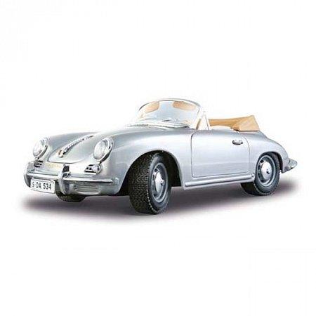 Авто-конструктор PORSCHE 356B CABRIOLET (1961) (серебристый, 1:18)