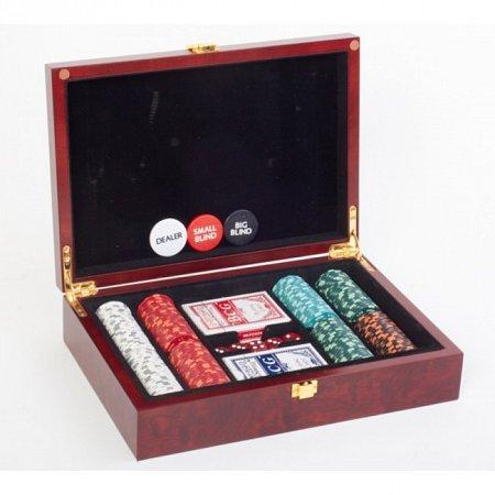 Покерный набор на 200 фишек с номиналом 1-100, Premium LUX 200. 14g-chips