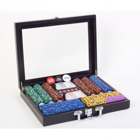 Покерный набор на 500 фишек с номиналом (25-5000), 500 Premium. 14g-chips