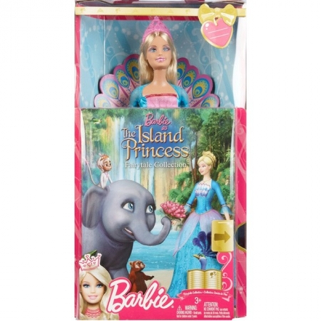 Кукла Барби Принцесса острова с книжкой