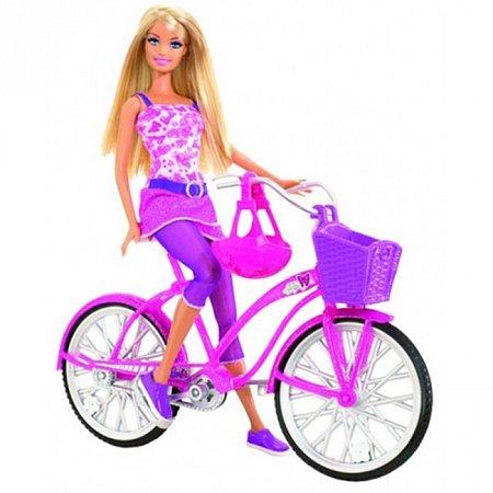 Кукла Барби с набором Прогулка на велосипеде