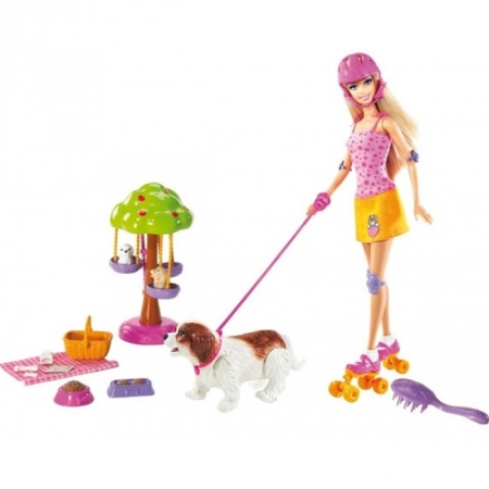 Кукла Барби с набором Парк для собак