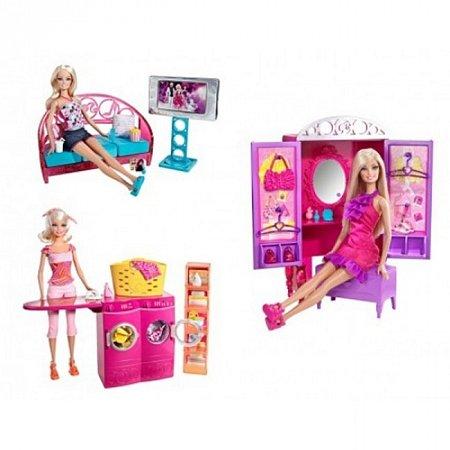 Кукла Барби с набором мебели