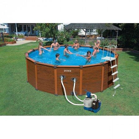 Изображение - Бассейн каркасный WOOD-GRAIN Pool 508. Intex 54964