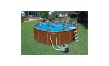 Бассейн каркасный WOOD-GRAIN Pool 478. Intex 54972