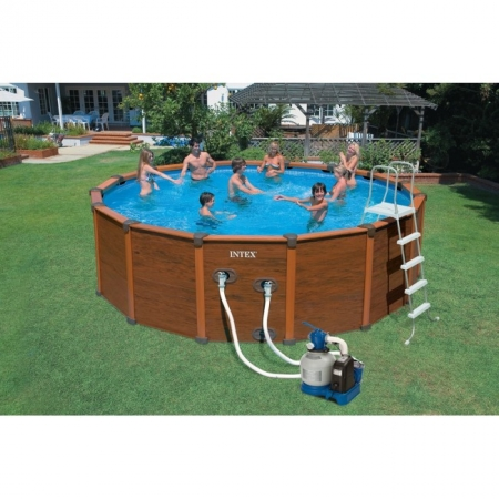 Изображение - Бассейн каркасный WOOD-GRAIN Pool 478. Intex 54972