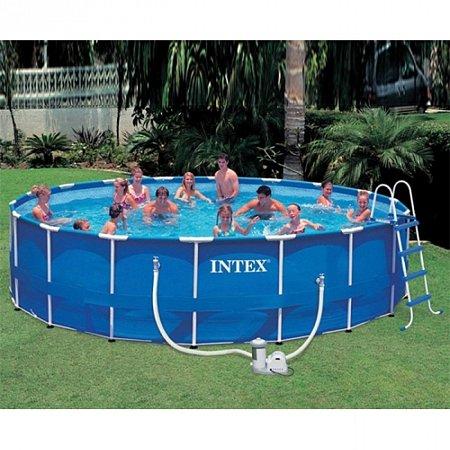 Бассейн каркасный Metal Frame Pool 549. Intex 56952