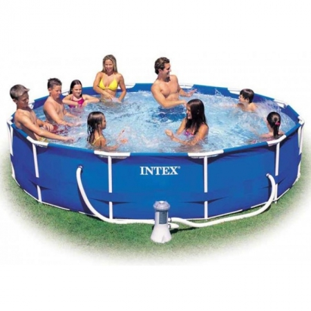 Бассейн каркасный Metal Frame Pool 366. Intex 56996