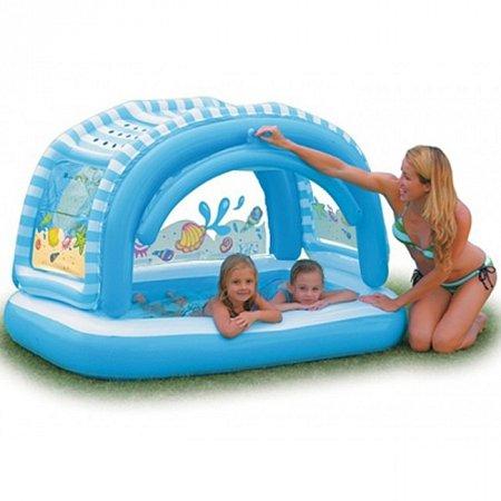 Детский бассейн с навесом Тенистый пляж. Intex 57406