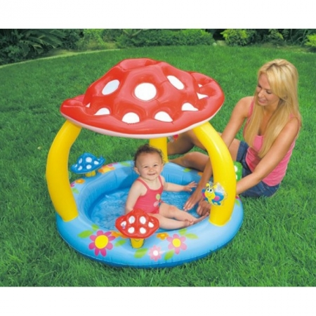Детский бассейн с навесом Грибочек. Intex 57407