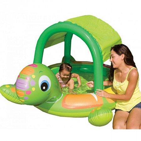 Детский бассейн с навесом Черепаха. Intex 57410