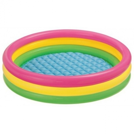 Детский бассейн круглый Радуга. Intex 57422
