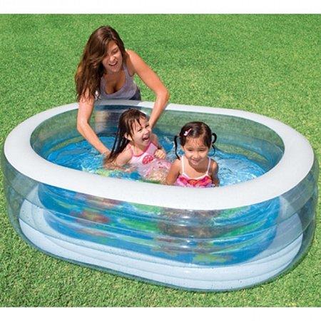 Детский бассейн Oval Whale. Intex 57482