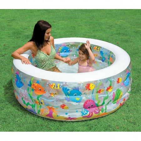 Надувной бассейн Aquarium. Intex 58480