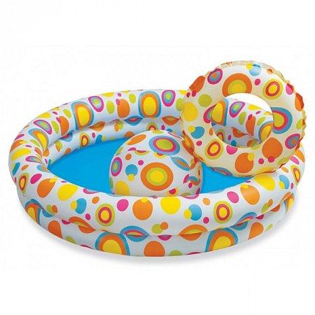 Бассейн детский Звезды с кругом и мячом. Intex 59460