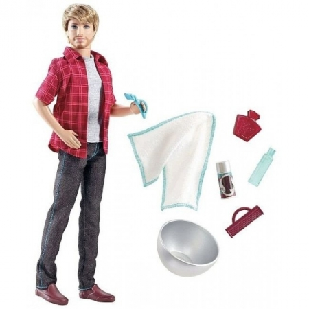 Кукла Кен с набором для бритья