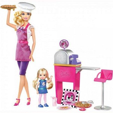 Кукла Барби с набором Пиццерия