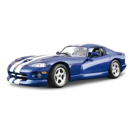Авто-конструктор DODGE VIPER GTS COUPE 1996 (синий, 1:24)