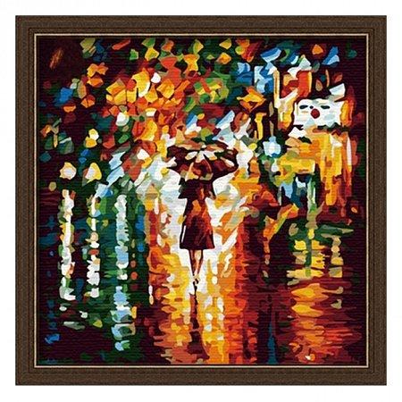 Раскраска по номерам В дождь (40х40), Color Kit CF014
