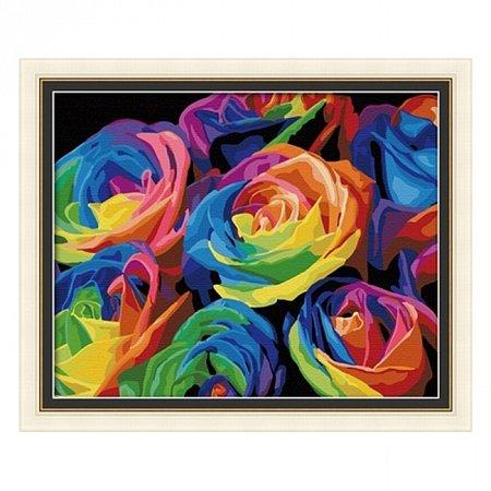 Раскраска по номерам Розы (40х50), Color Kit CG001