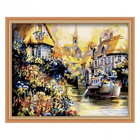 Раскраска по номерам Дом у реки (40х50), Color Kit CG059