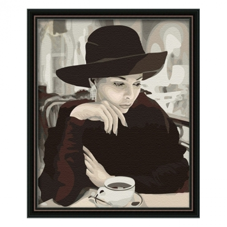Раскраска по номерам Мадам (40х50), Color Kit CG069