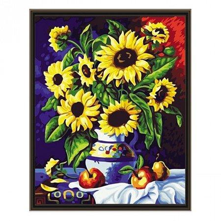 Раскраска по номерам Подсолнухи (40х50), Color Kit CG088