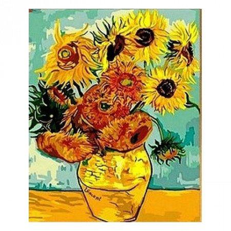 Раскраска по номерам Подсолнухи, Ван Гог (40х50), Color Kit CG098