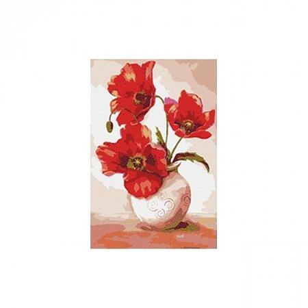 Раскраска по номерам Маки в вазе (40х50), Color Kit KIT001