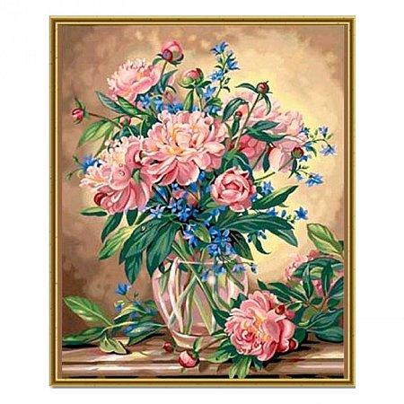 Раскраска по номерам Ваза с цветами (40х50), Color Kit CG081