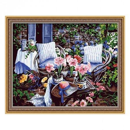 Раскраска по номерам В саду (40х50), Color Kit CG016