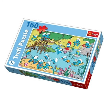 Пазл Trefl - Смурфики Игры на воде. 160 pcs (15212)