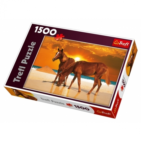 Пазл Trefl - Лошади на берегу. 1500 pcs (26093)