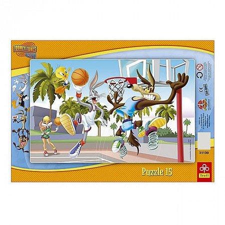 Пазл рамочный Trefl - Баскетбольный матч. 15 pcs (31109)