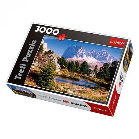 Пазл Trefl - Озеро в Доломитовых Альпах. 3000 pcs (33012)